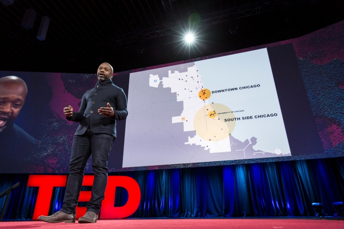 Theaster Gates speaks at TED2015 - Truth and Dare, Session 7. Photo: Bret Hartman/TED