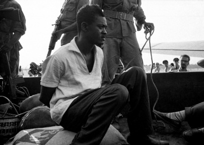Picture of Patrice Lumumba in jeep